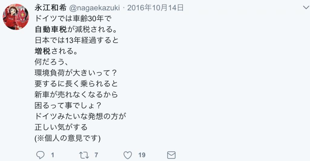 twitter自動車税増税13年超