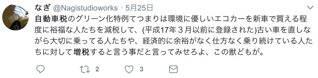 twitter自動車税13年超意見2